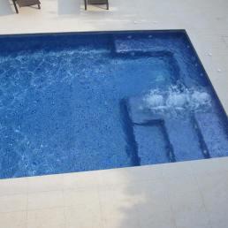 Platja dins la piscina