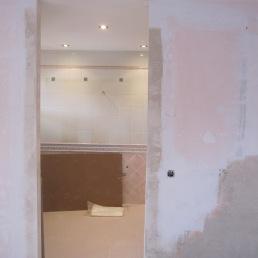 paret preparada per porta